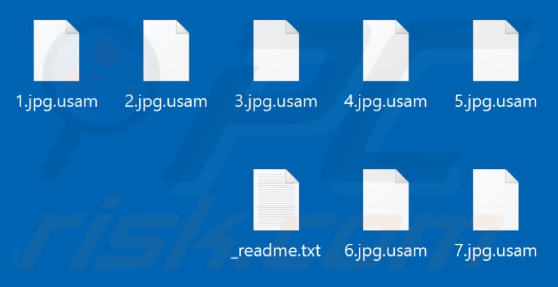 Files encrypted by Usam ransomware (.usam extension)