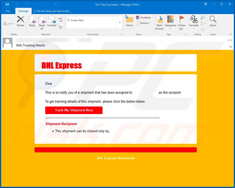 Dhl Email Virus