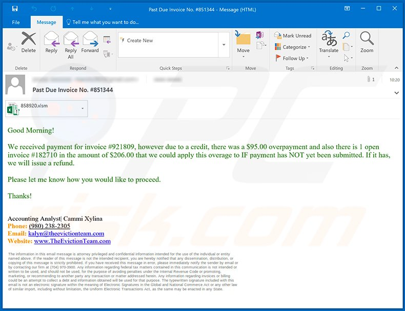 Spam email used to spread Dridex malware (2020-07-02)
