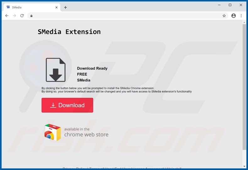 Website used to promote SMedia browser hijacker
