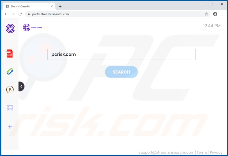streaminsearchs.com browser hijacker
