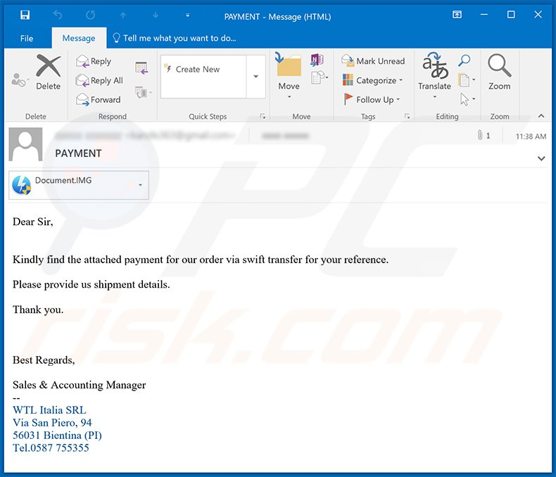 Spam email used to spread FormBook malware (2020-09-09)