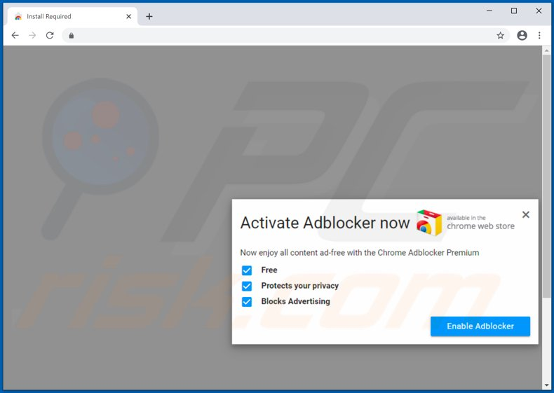Website used to promote PowerSmash browser hijacker