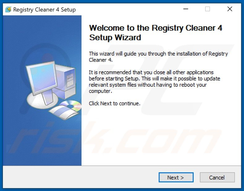 Registry Cleaner PUA installation setup