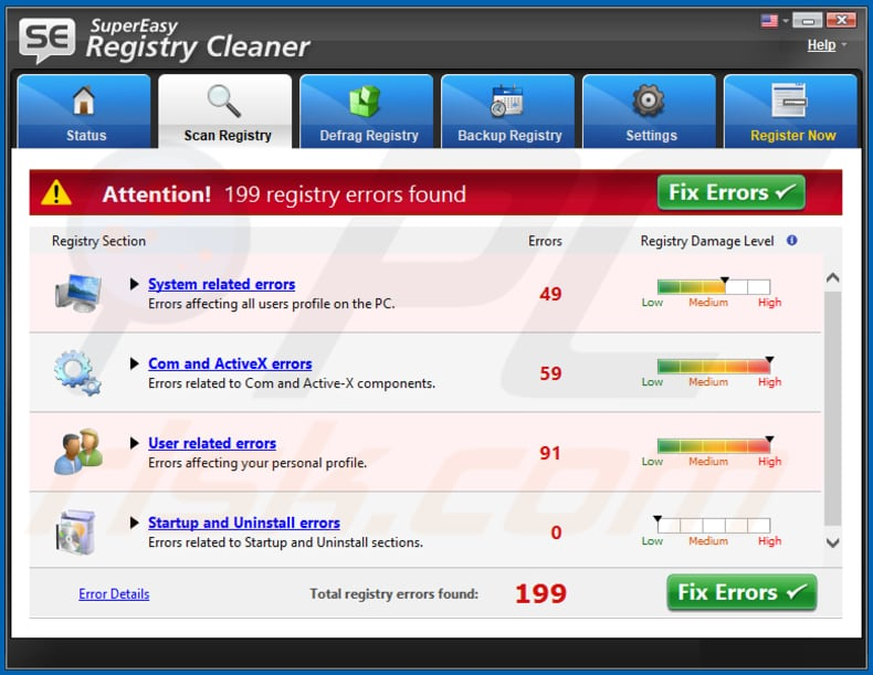 SuperEasy Registry Cleaner unwanted application