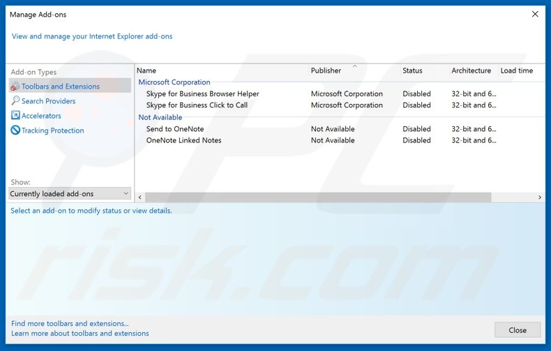 Removing urgent-incoming[.]email ads from Internet Explorer step 2