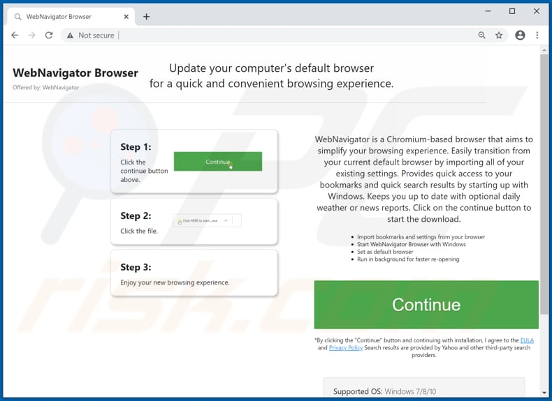 webnavigatorbrowser adware download website