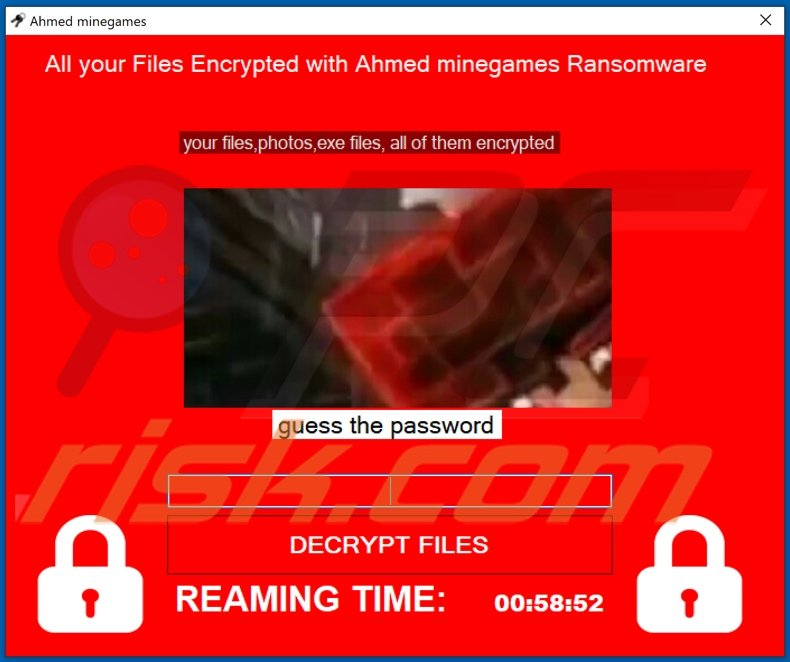 Ahmed Minegames decrypt instructions (pop-up)