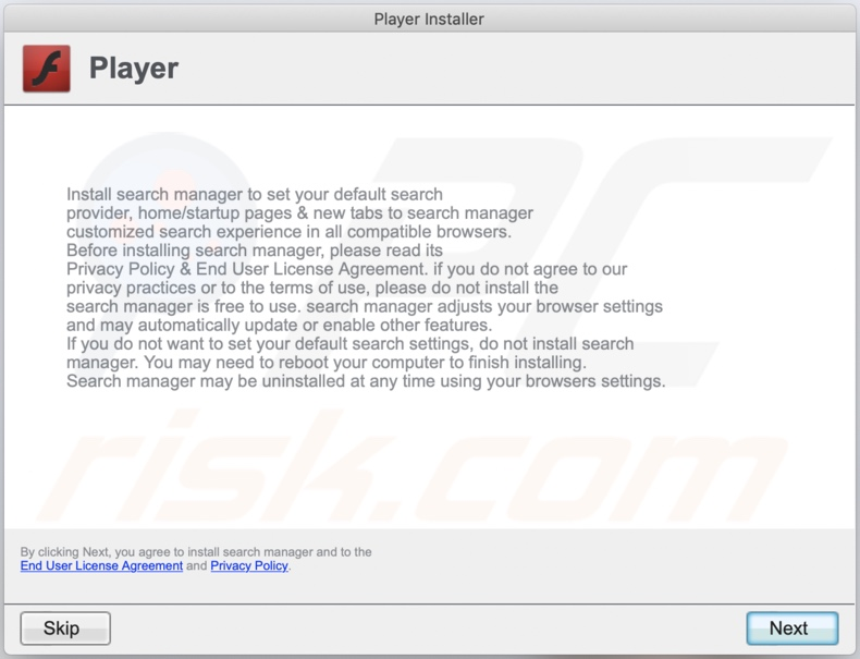 Delusive installer used to promote AnalyticParameter adware