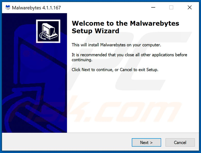 fake malwarebytes installer used to distribute malware