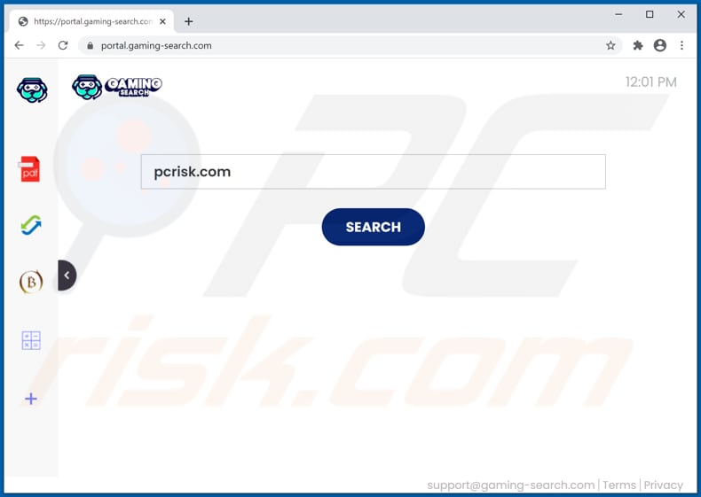 gaming-search.com browser hijacker