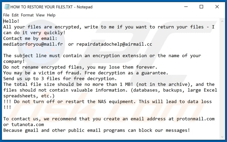 Gyxtkrpb decrypt instructions (HOW TO RESTORE YOUR FILES.TXT)