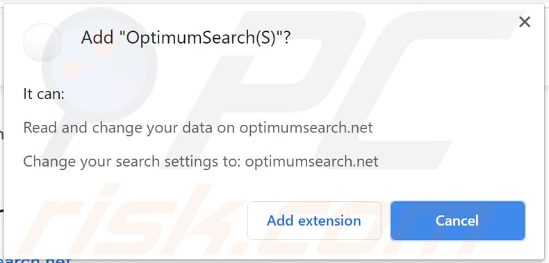 optimumsearch (s) browser hijacker notification