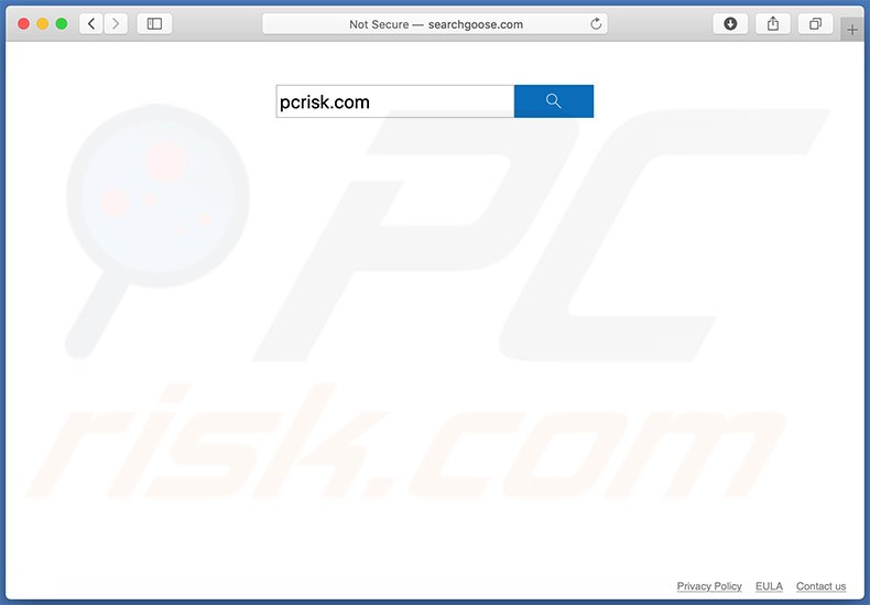 searchgoose.com browser hijacker on a Mac computer