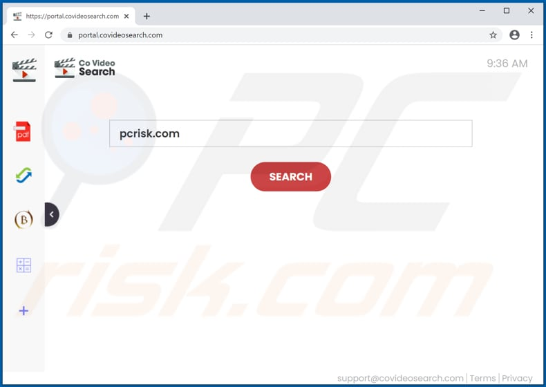 covideosearch.com browser hijacker