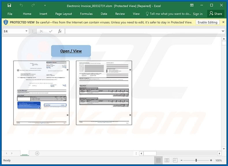 Malicious MS Excel doc used to spread Dridex malware