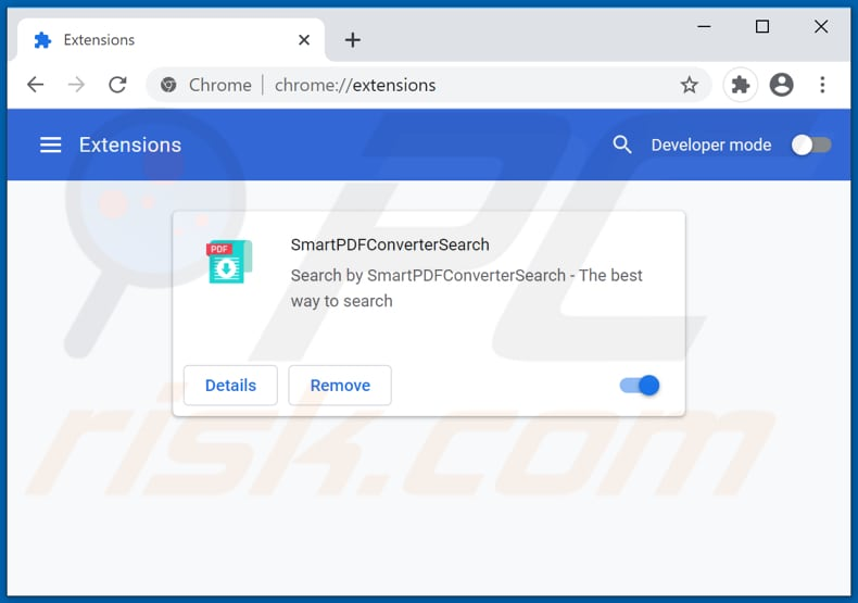 Removing smartpdfconvertersearch.com related Google Chrome extensions