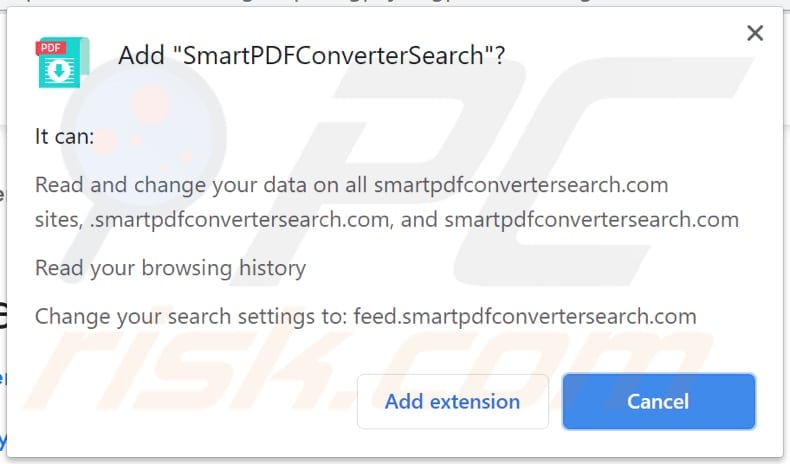smartpdfconvertersearch browser hijacker notification