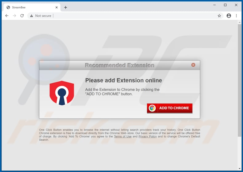 Website used to promote StreamBee browser hijacker