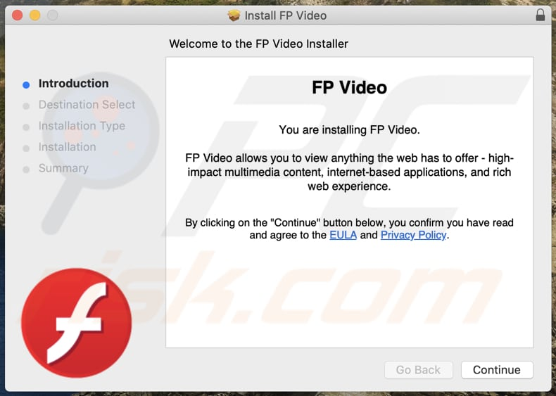 Delusive installer used to promote FPVideo adware