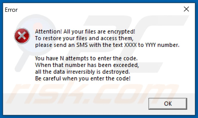 Lockedfile decrypt instructions (error pop-up window)