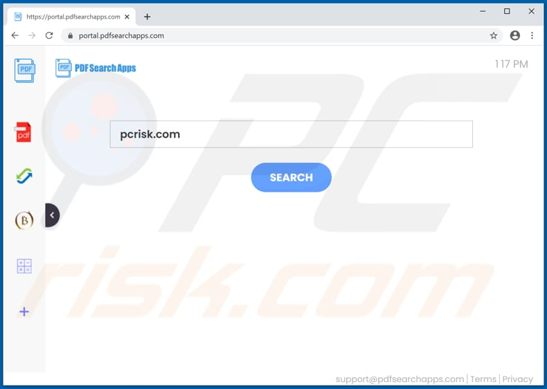 pdfsearchapps.com browser hijacker
