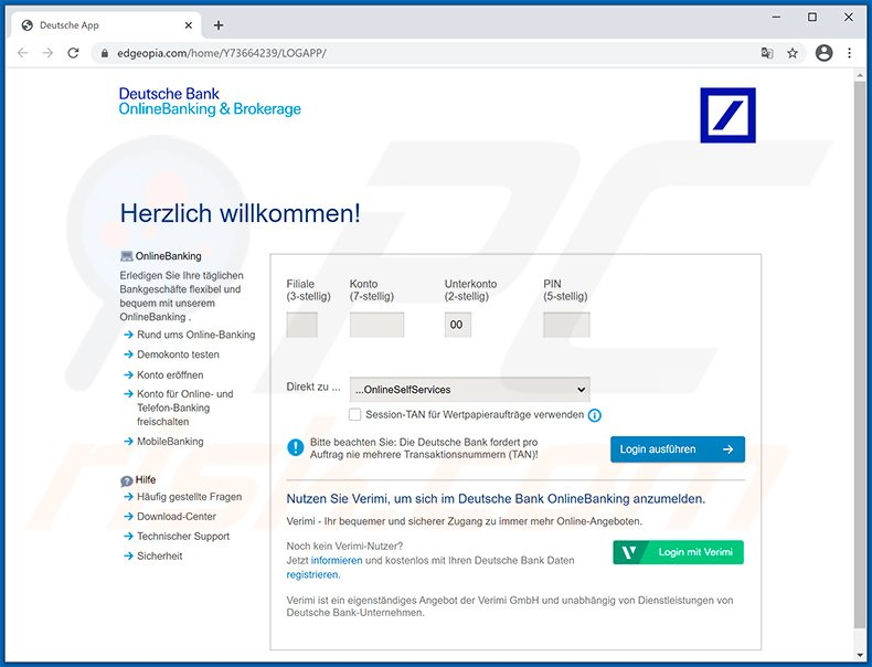 Bank scam deutsche Deutsche Bank