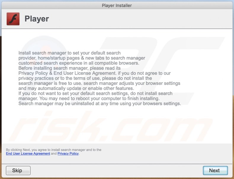 Delusive installer used to promote InitialProgram adware (step 2)