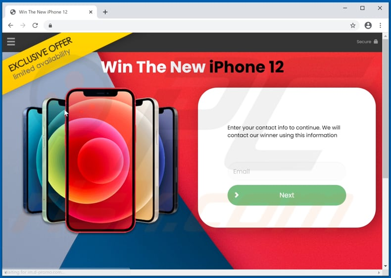 Win The New iPhone 12 scam