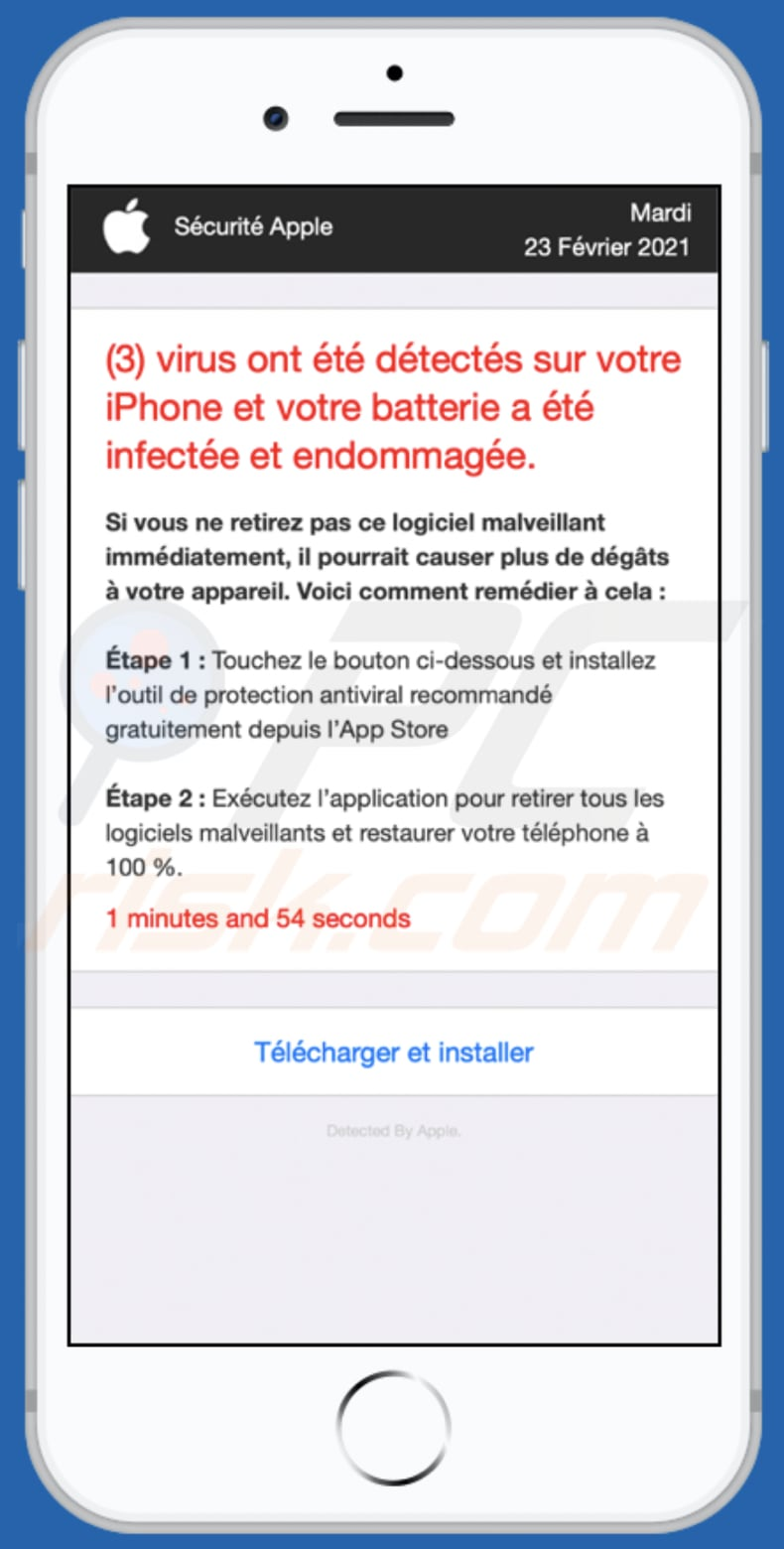 app-department.report pop-up scam french variant background