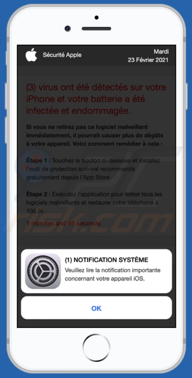 app-department.report pop-up scam french variant pop-up