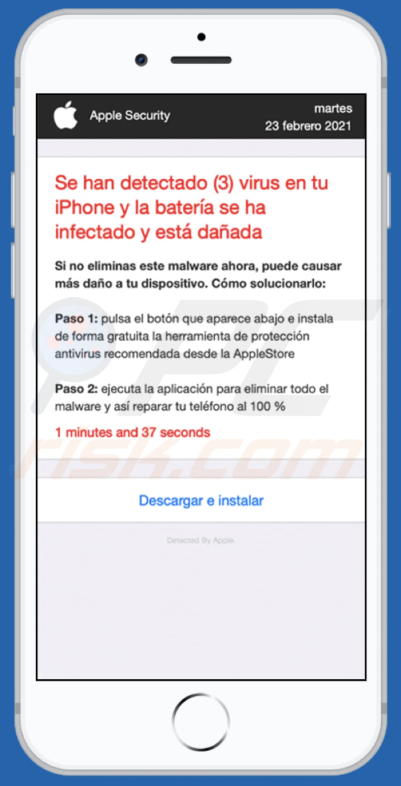 app-department.report pop-up scam spanish variant background