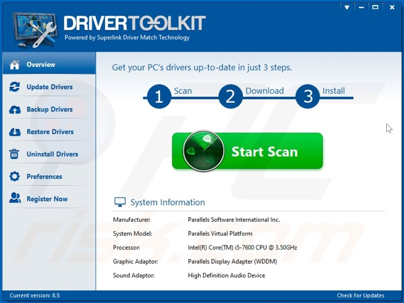 DriverScape unwanted application