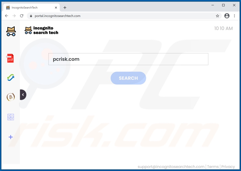 incognitosearchtech.com browser hijacker