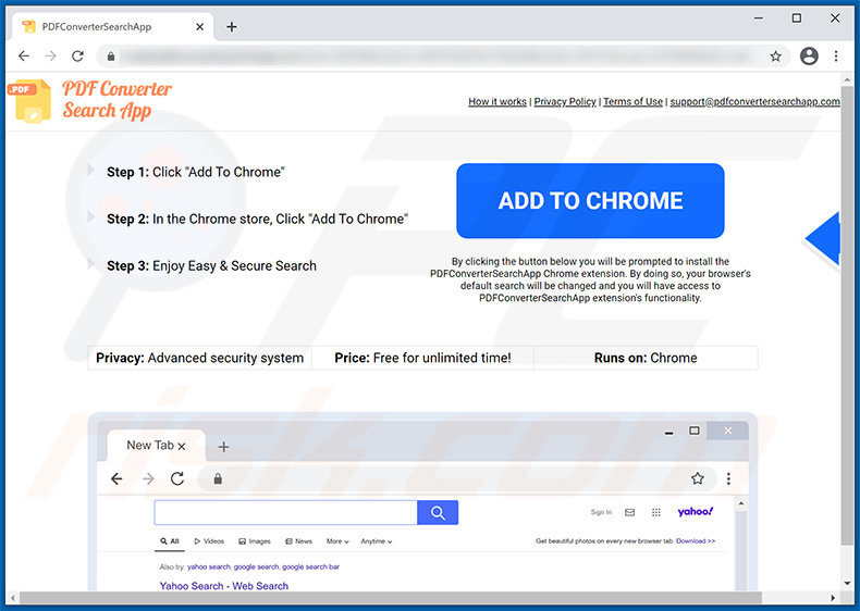 PDFConverterSearchApp browser hijacker-promoting website (2021-02-23)