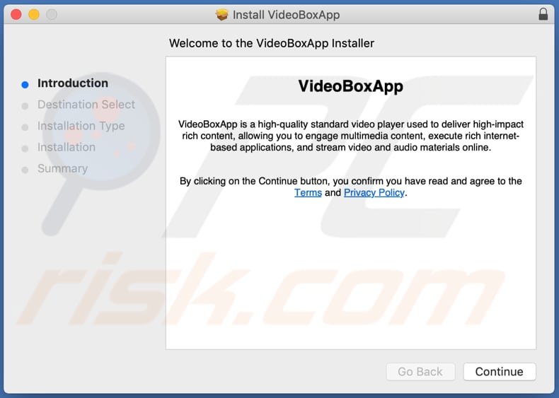 Delusive installer used to promote VideoBoxApp adware