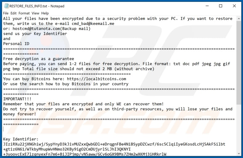 VIPxxx decrypt instructions (RESTORE_FILES_INFO.txt)