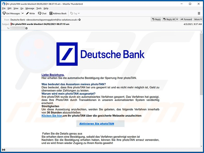 Bank scam deutsche Fired executive