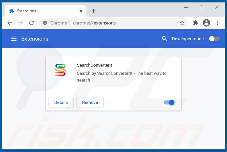 Removing searchconverterit.com related Google Chrome extensions