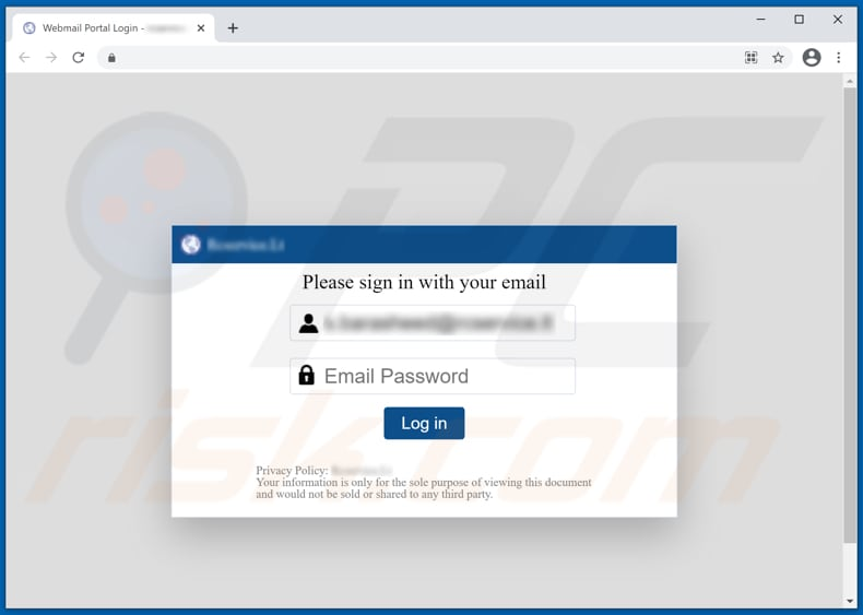 secure your email scam phishing website