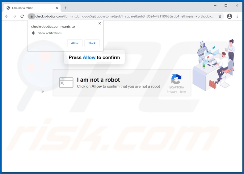 checkrobotics[.]com pop-up redirects