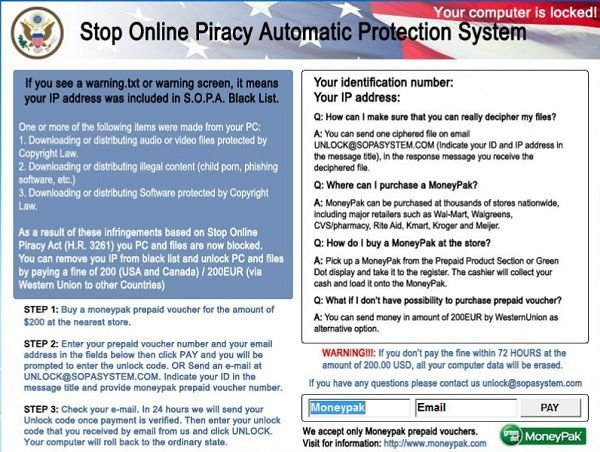 stop online piracy automatic protection system scam