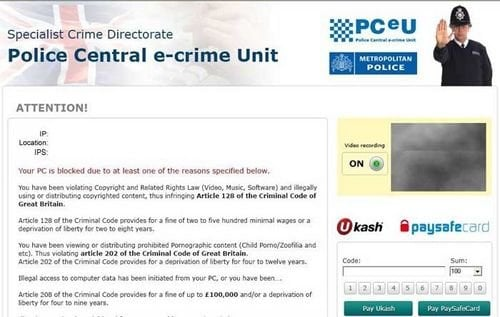 police central e-crime unit scam