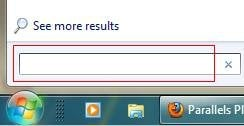 Windows 7 search box