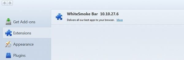 white smoke toolbar mozilla firefox