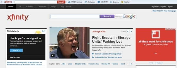 xfinity toolbar Poista Xfinity toolbar