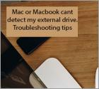 Mac or MacBook can't detect my external drive.