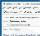 Debt Settlement Email Scam