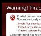 Warning! Piracy detected!  Pop-up