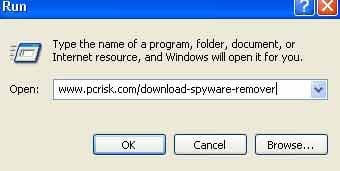 download remover using run dialog windows xp